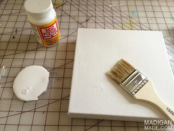 How to make DIY wall art with vintage fabric