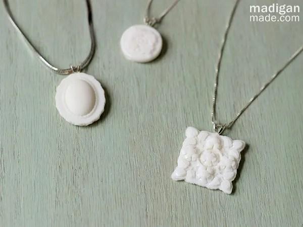 Easy DIY Milk Glass Necklace