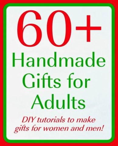 Over 60 handmade gift ideas.