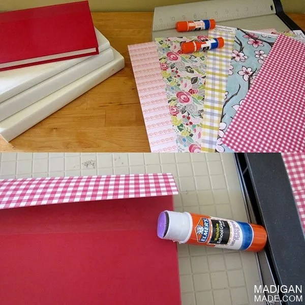 how to cover books with decorative paper