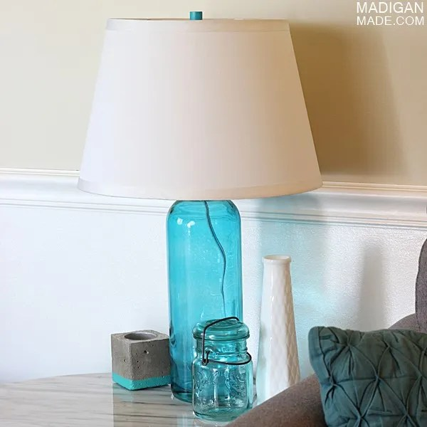 Make a DIY lamp from a bottle (part of the Summer Tour of Homes with The Shabby Creek Cottage)