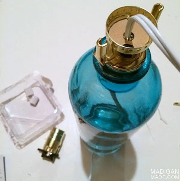 how to make a lamp from a bottle - easy tutorial