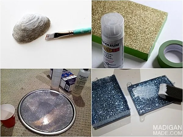 How best to seal glitter so it does not shed.
