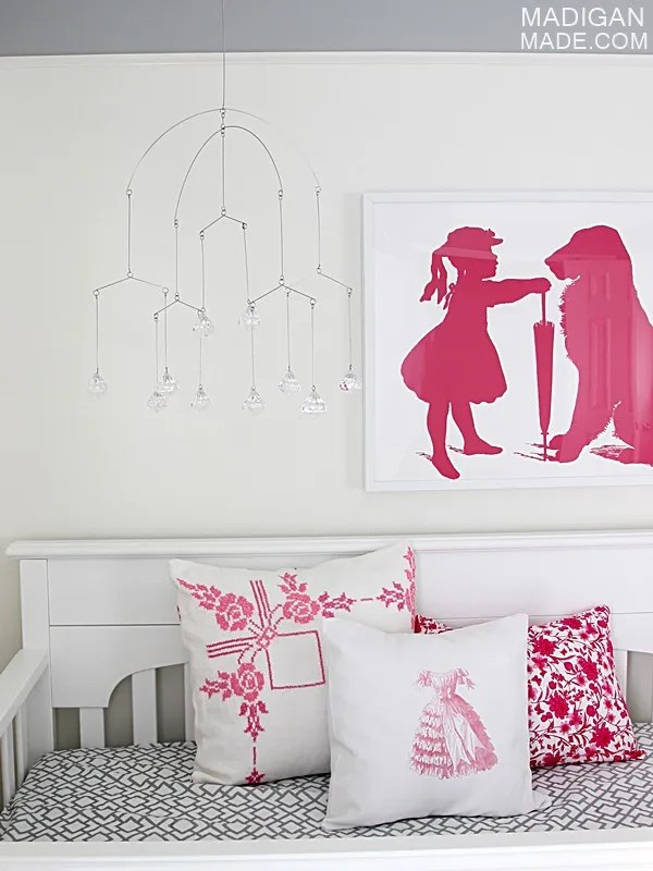 Pink and gray nursery crib ideas