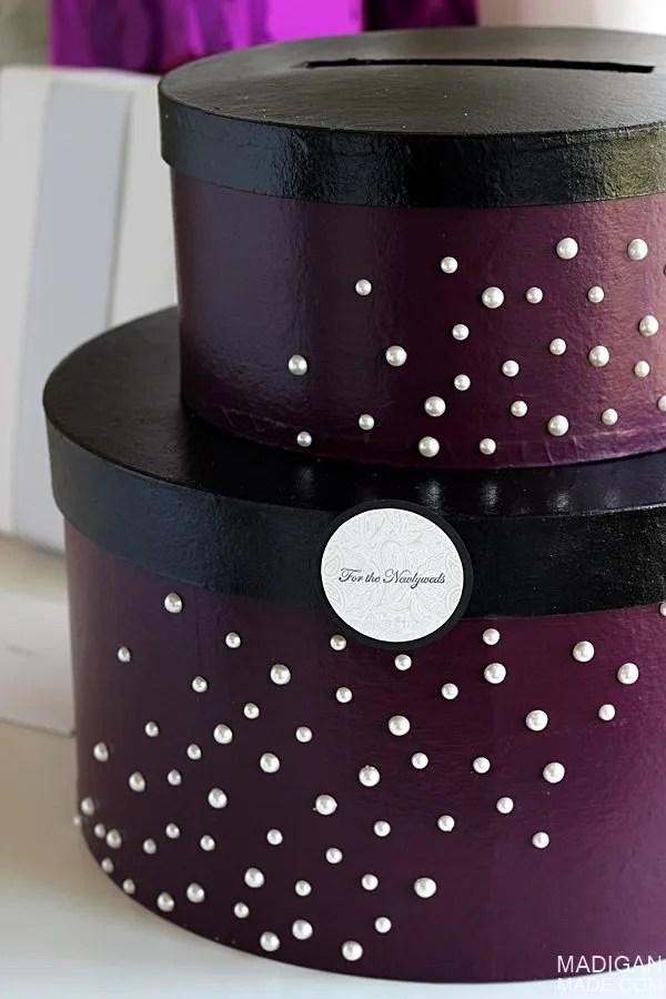 Simple & Elegant Skyline Inspired Wedding Card Box