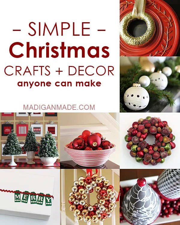 25 Simple Christmas Crafts And Décor Ideas Rosyscription