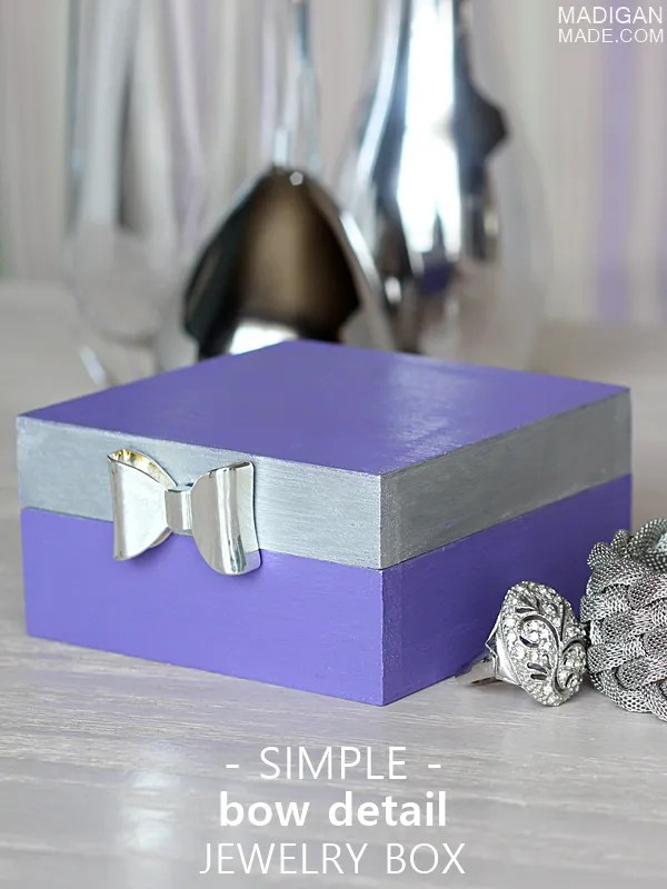 Simple DIY jewelry box with bow detail