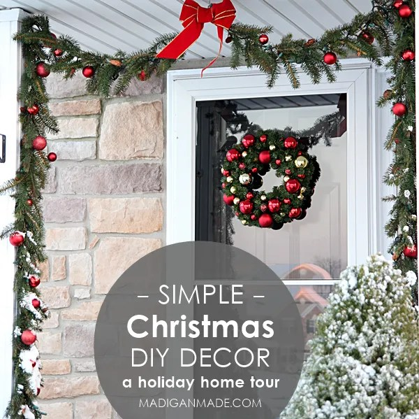 Simple elegant holiday d cor our home tour rosyscription for Easy to make christmas decorations at home