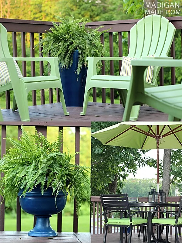 Simple green and blue outdoor decor ideas (part of the Summer Tour of Homes with The Shabby Creek Cottage)