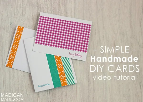 4 simple handmade cards a video tutorial rosyscription learn 4 simple ways to make handmade cards in this video m4hsunfo