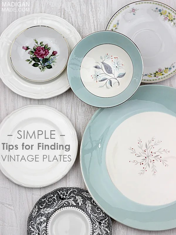 Simple and practical tips for finding (and using) vintage plates