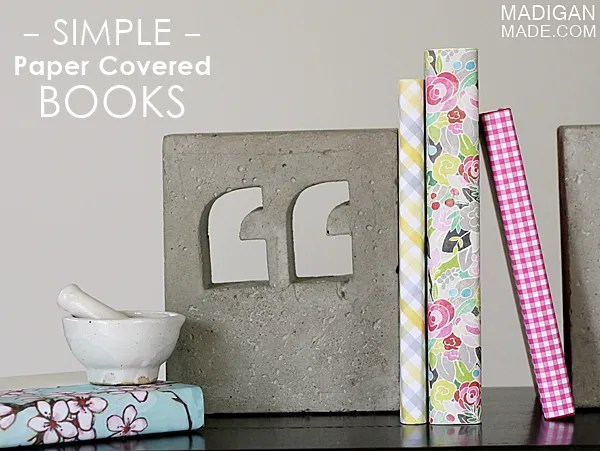 vintage inspired DIY paper covered books