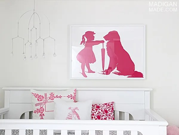 Vintage image DIY wall art for nursery