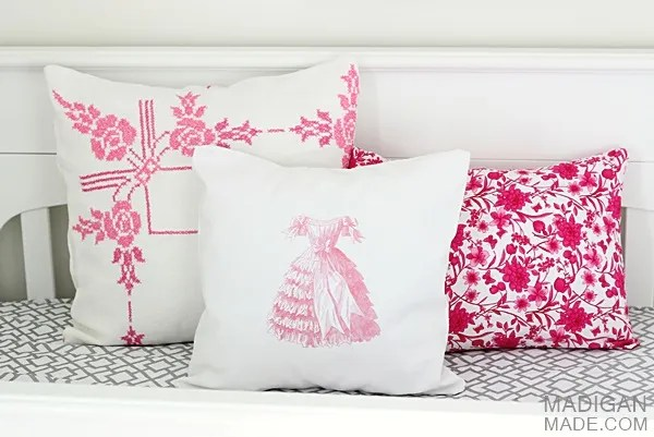 Vintage inspired DIY pillows
