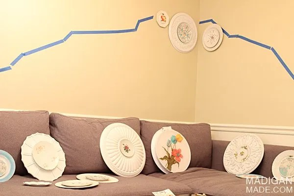 how to hang a vintage plate gallery wall