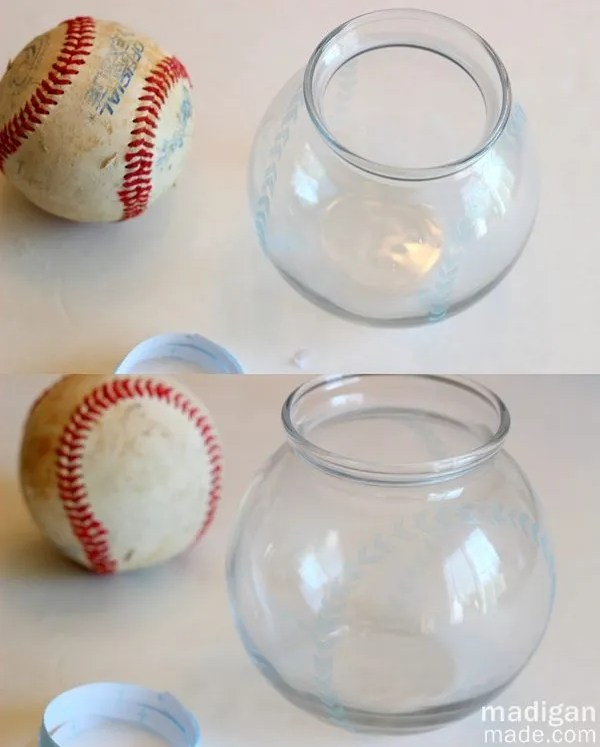 How to make a baseball inspired glass vase