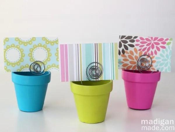blooming flower pot gift card holder craft