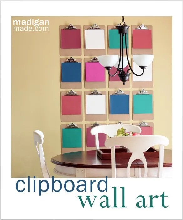 Love this Clipboard Wall Décor Art - details & instructions to install at madiganmade.com