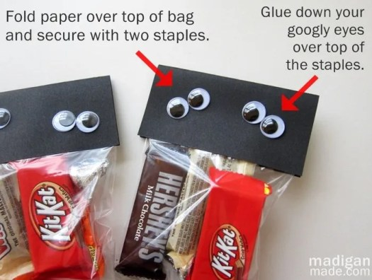 Find the steps to make your own Halloween goodie bags at madiganmade.com