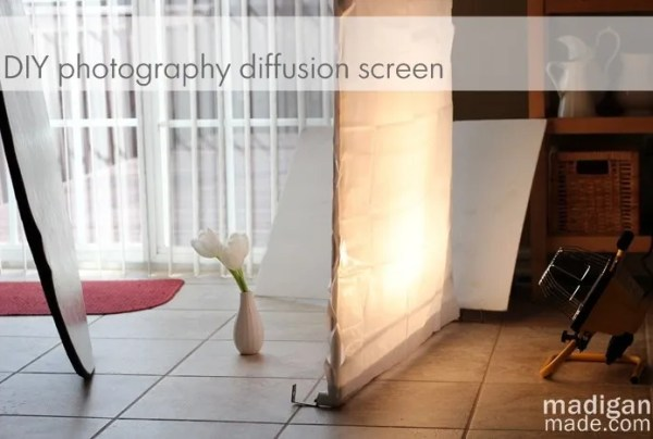 DIY Photography Lighting Set Up: How to make a diffusion panel for under $20!