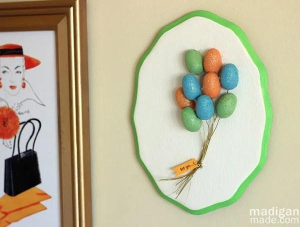 DIY wall art: a 3-D balloon plaque