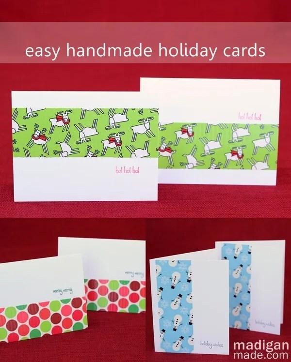 Easy Handmade Holiday Cards