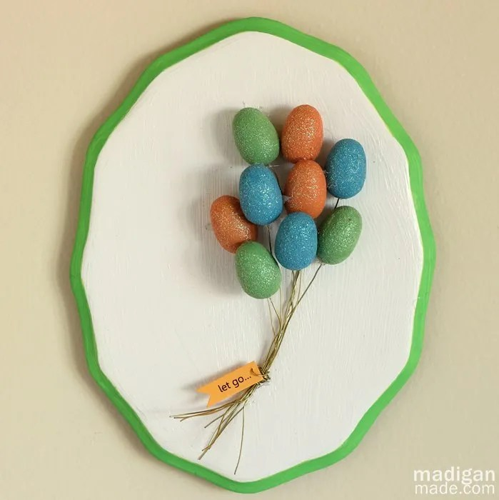 Easy Wall Art Idea: Make A Balloon Plaque