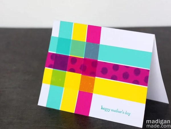 Easy Mother's Day card with washi tape | Madigan Made