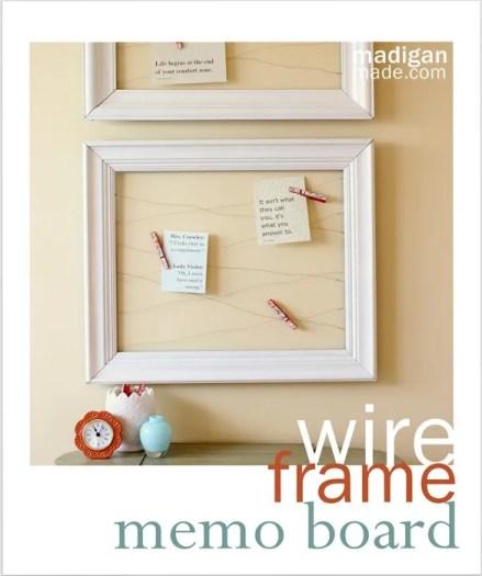 wire frame memo board tutorial - madiganmade.com