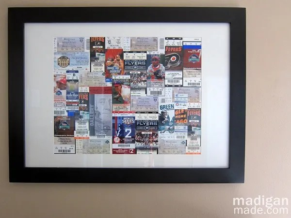 frame your sports tickets to make DIY art