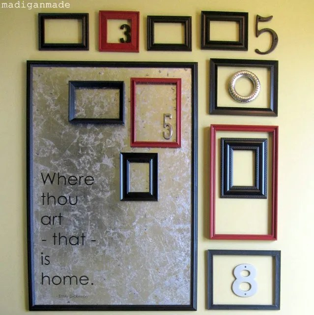 Foyer Mirror Quote : My updated foyer a gallery wall typography personal