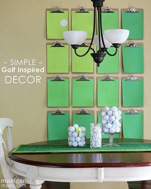 Golf Table Decorations Ideas Photograph  Simple golf course