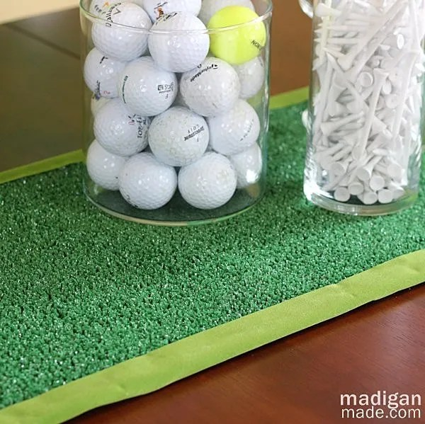 DIY Golf Decor: Artificial Turf Table Runner