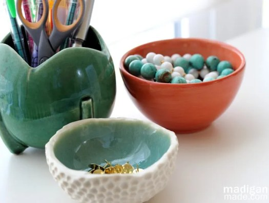 orange, green, blue ceramics - madiganmade.com