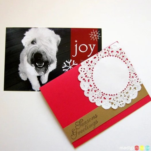 im sure this fact will not shock you but my cards are always pretty simple in design and execution ive shown you some of my prior holiday card ideas - Dog Christmas Card Ideas