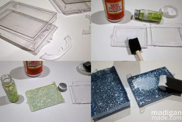 how to decoupage with glitter - madiganmade.com