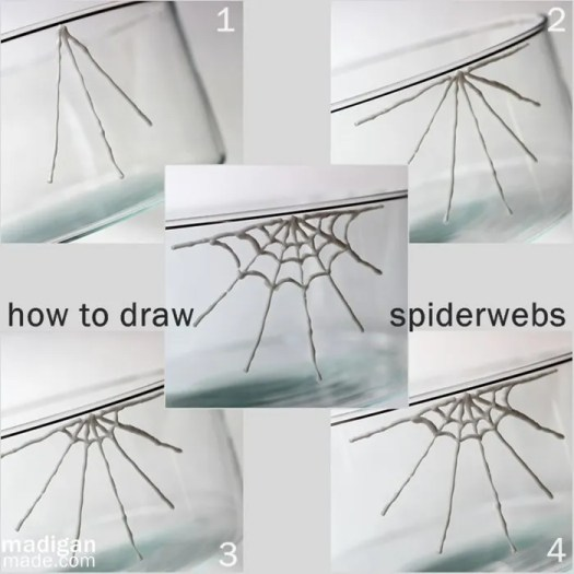 How do you draw spiderwebs? This is how! - madiganmade.com