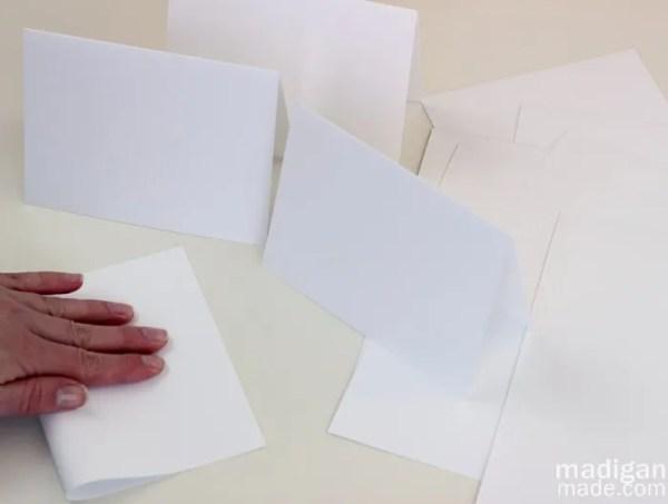 fold your handmade cards