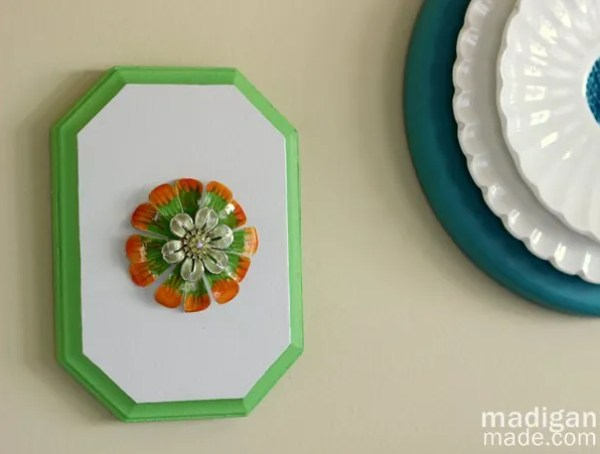 Easy Wall Art DIY: Mount a Brooch on a Plaque