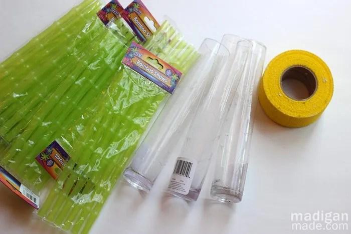 néon bambu suprimentos vaso