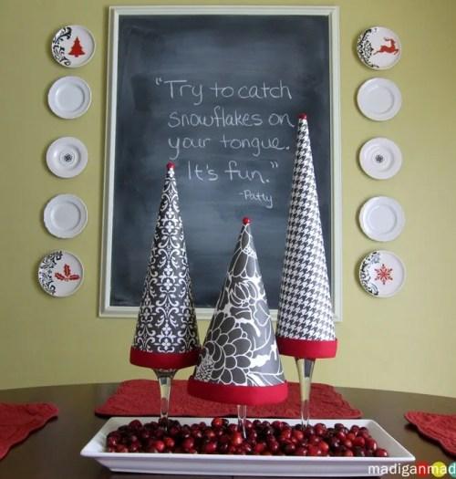 diy paper christmas topiary tree craft