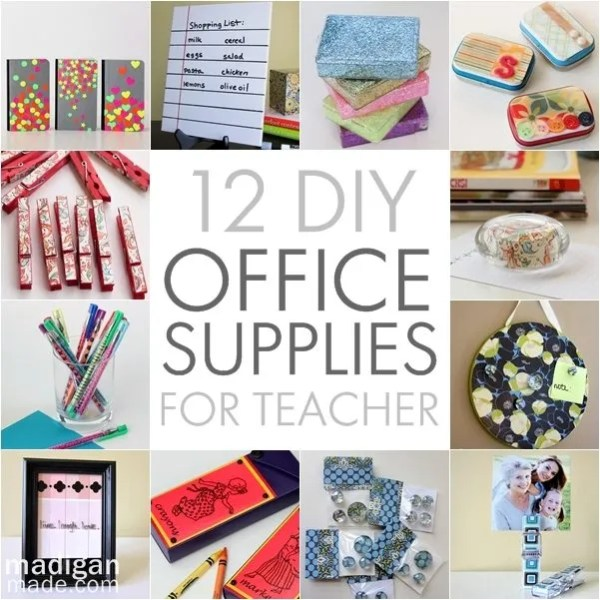 12 pretty diy office supplies to make for teacher for Diy office supplies