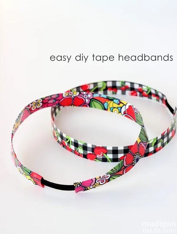 quick and easy duck tape headband craft