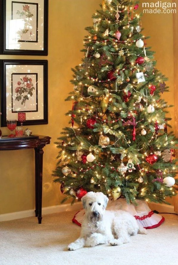 Simple and Easy Christmas Decorating Ideas - Christmas tree and holiday home tour at madiganmade.com