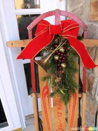 old fashioned sled for holidays