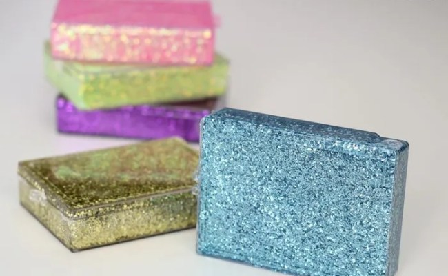 Upcycled Glitter Storage Boxes Rosyscription