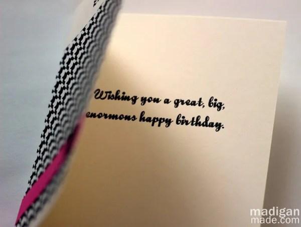 A Simple Handmade Birthday Card Idea Rosyscription