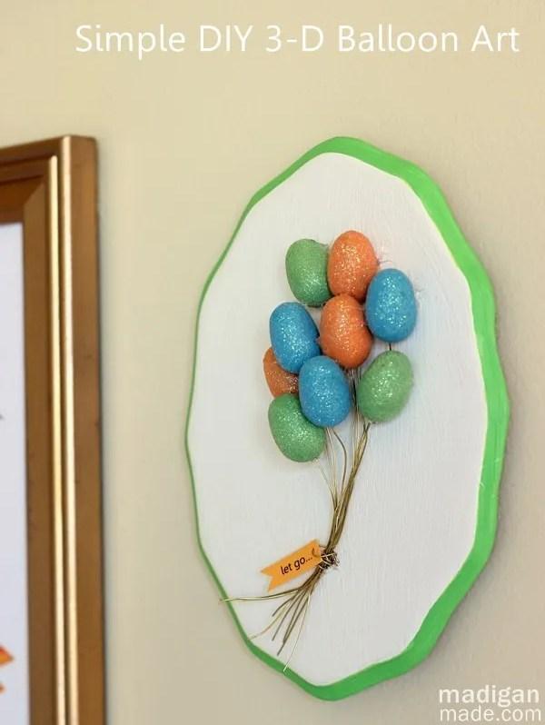 Simple wall art idea: make a 3D balloon plaque