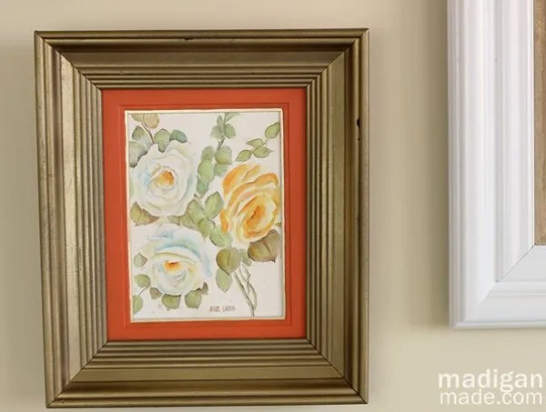 Update a thrift store painting by painting over it with glass paint