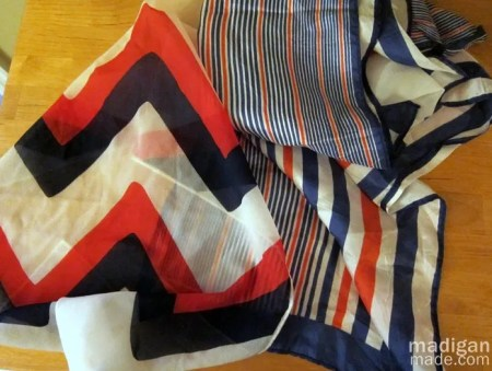 vintage striped scarves